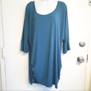 Serena Williams Plus Size Bling Ruched Tunic Top
